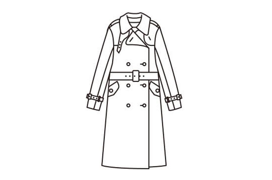 小見出しトレンチってどんなコート?のイラスト画像