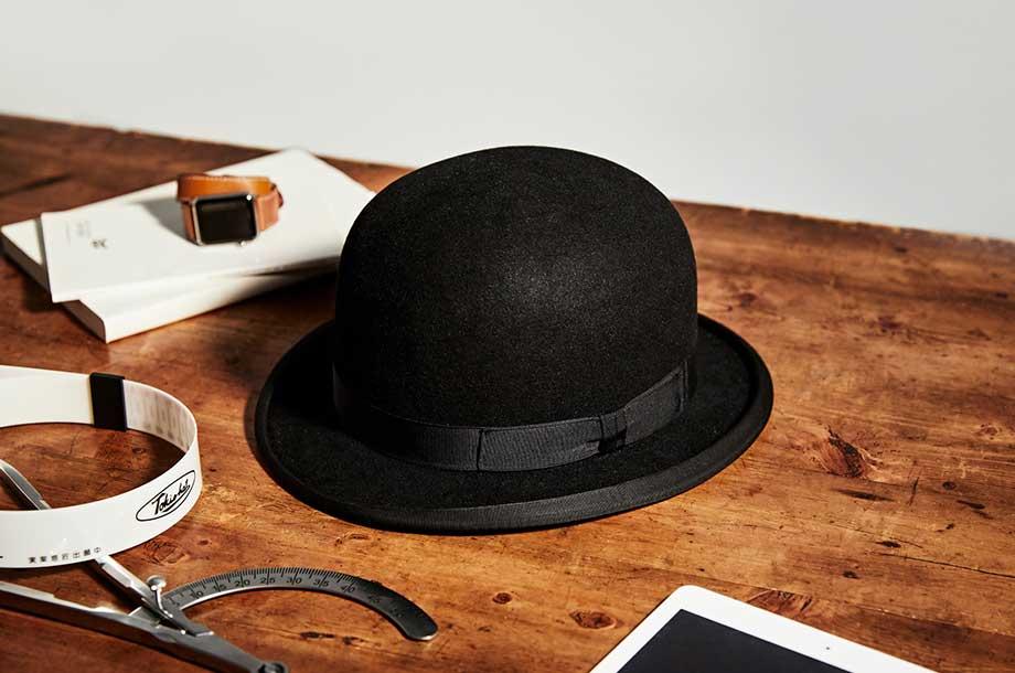 渋沢栄一が被っていた帽子の復刻版の画像