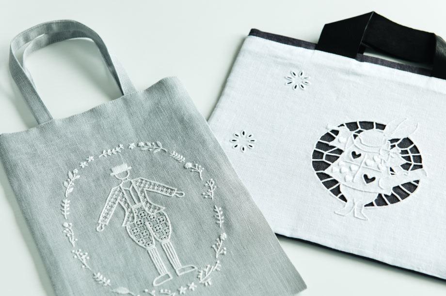 刺繡バッグの画像