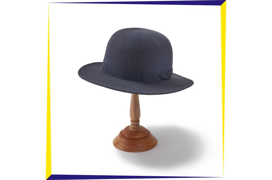 <石田製帽>ラビットフェルト帽子・帽子スタンドの画像
