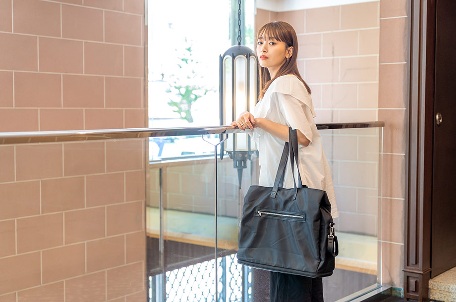 近藤 千尋さんとマザーズバッグの画像