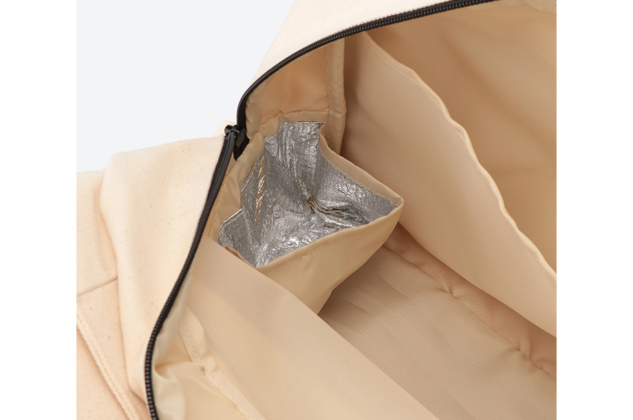 保冷ホイル仕様のポケット部分の画像