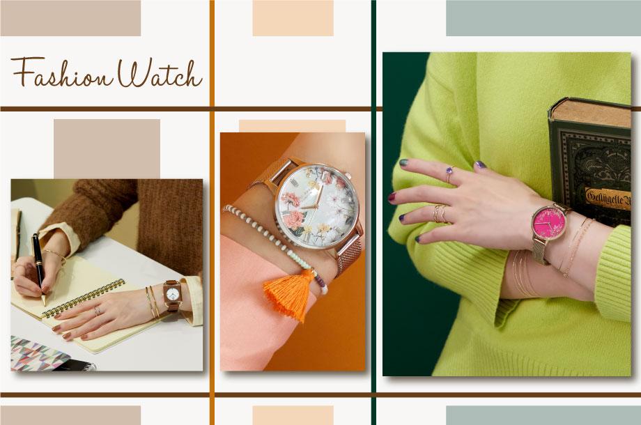 \視線集中/魅せる手元コーデはお気に入りのファッションウォッチで完成!