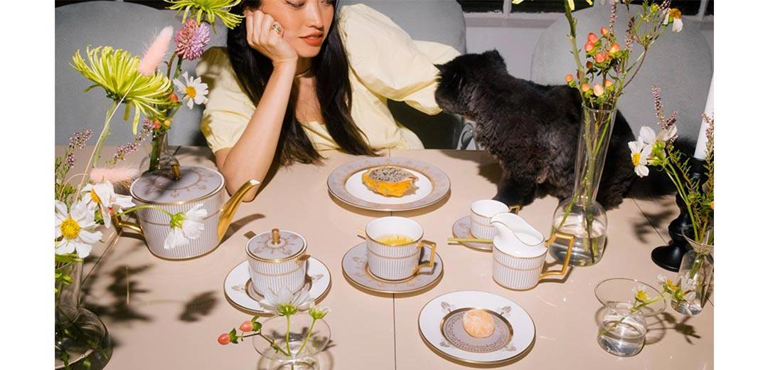 <ウェッジウッド>秋の食卓に彩りを添える「アンセミオン グレイ」のメインビジュアル