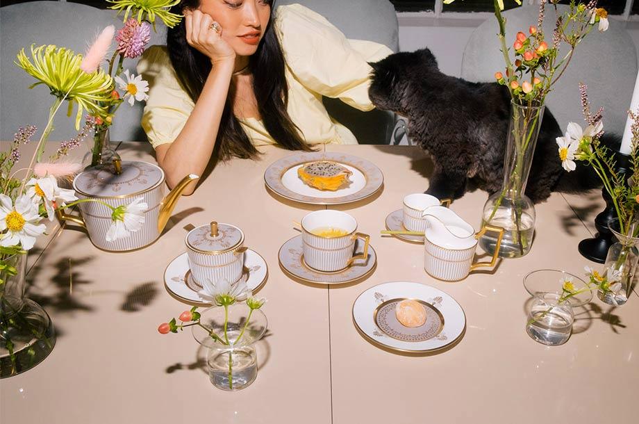 <ウェッジウッド>秋の食卓に彩りを添える「アンセミオン グレイ」