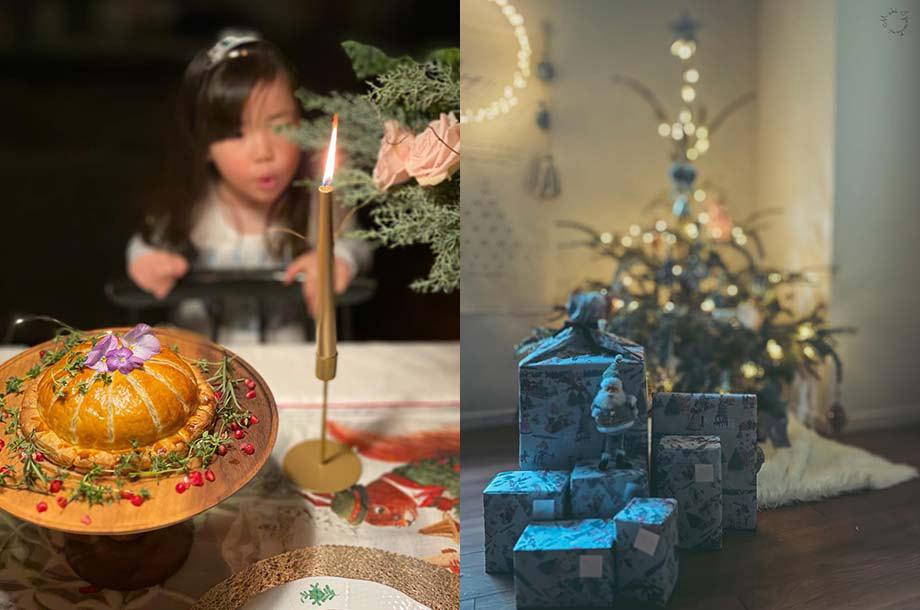 まきさんのクリスマスの飾り付けの画像