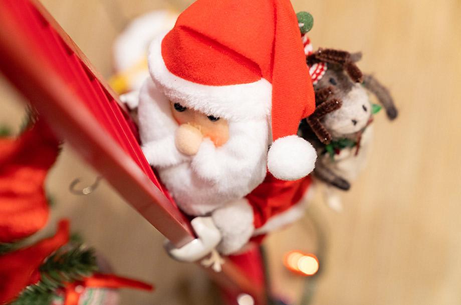 <Mr.Christmas>スーパークライミングサンタ (はしごとサンタのセット)の画像